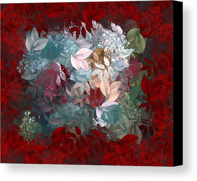 Leaves Canvas Print featuring the digital art Naturaleaves - S20-03c by Variance Collections