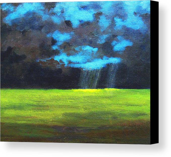 Poster Canvas Print featuring the painting Open Field IIi by Patricia Awapara