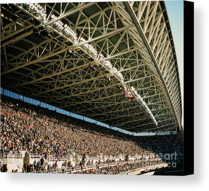 Centurylink Field Canvas Print featuring the photograph Seahawks Stadium 4 by Tracy Knauer