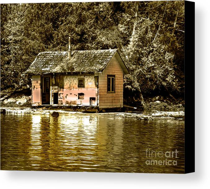 Sepia Canvas Print featuring the photograph Sepia Floating House by Robert Bales