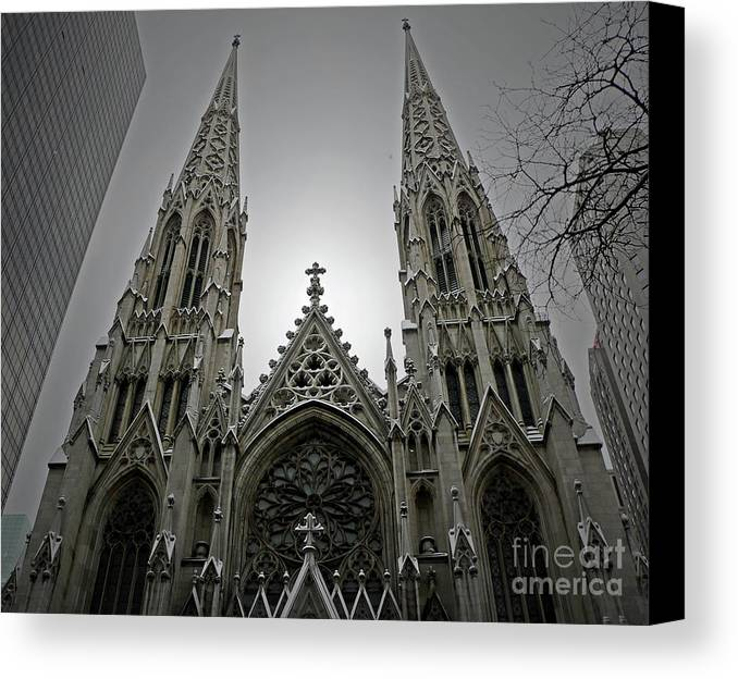 Cathedral Canvas Print featuring the photograph St. Patricks Cathedral by Angela Wright