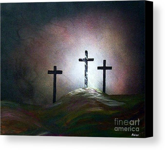 Jesus Canvas Print featuring the painting Still The Light by Eloise Schneider Mote
