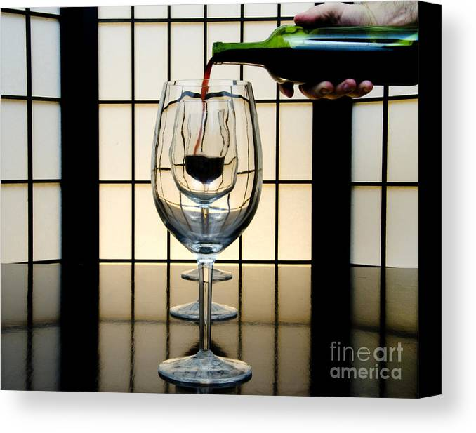 Banquet Canvas Print featuring the photograph Wine For Three by John Debar