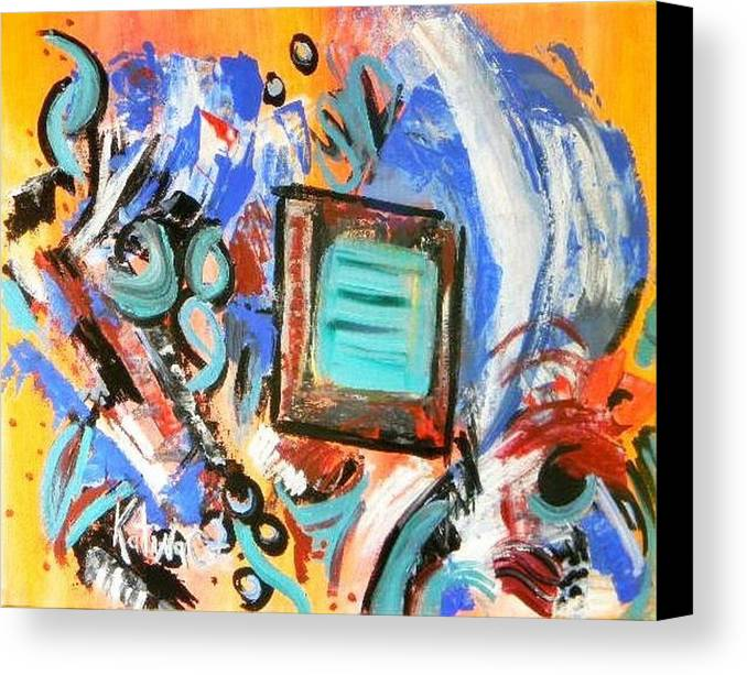 Modern Art Canvas Print featuring the painting Pizazz by Katina Cote