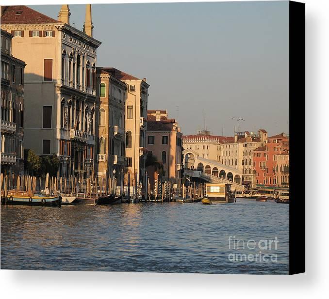 Grand Canal Canvas Print featuring the pyrography Grand Canal. Venice by Bernard Jaubert