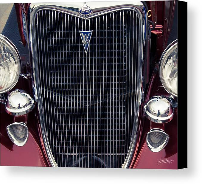 Fords Canvas Print featuring the photograph A Grill To Remember by Steven Milner