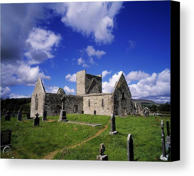 Archeology Canvas Print featuring the photograph Burrishoole Friary, Co Mayo, Ireland by The Irish Image Collection