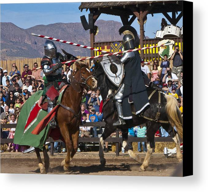 Joust Canvas Print featuring the photograph Joust To The End... by Jon Berghoff