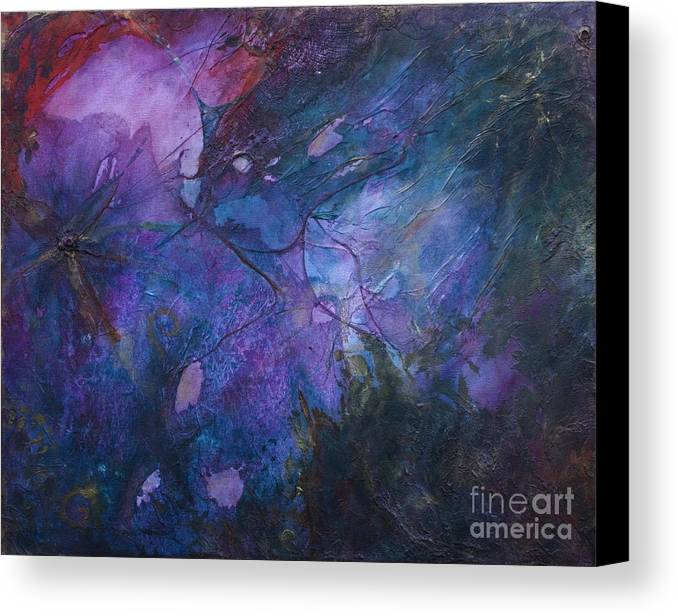 Abstract Canvas Print featuring the painting Masquerade by Jay Taylor