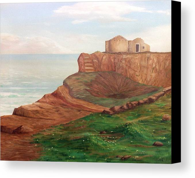 Landscape Canvas Print featuring the painting Pachino by AnnaJo Vahle