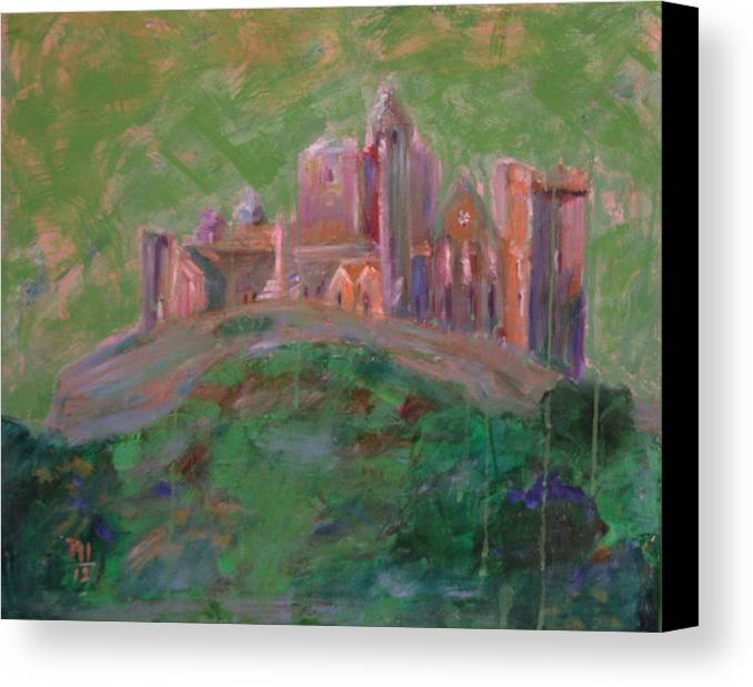Ireland Canvas Print featuring the painting The Rock Of Cashel by Rosemen Elsayad