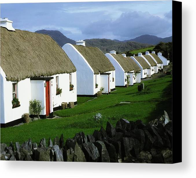 Building Canvas Print featuring the photograph Tullycross, Co Galway, Ireland Holiday by The Irish Image Collection