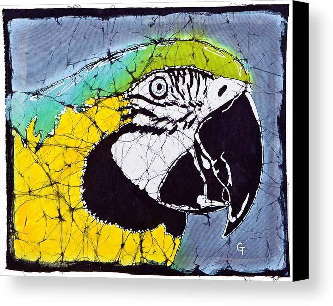 Batik Canvas Print featuring the mixed media Zoe by Gene Tilby