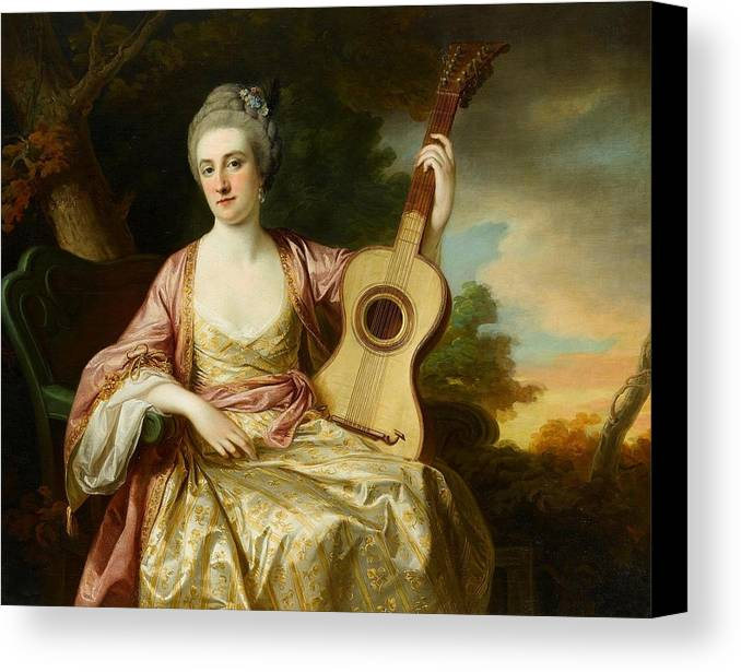 Francis Cotes Canvas Print featuring the painting Portrait Of Maria Walpole by Francis Cotes