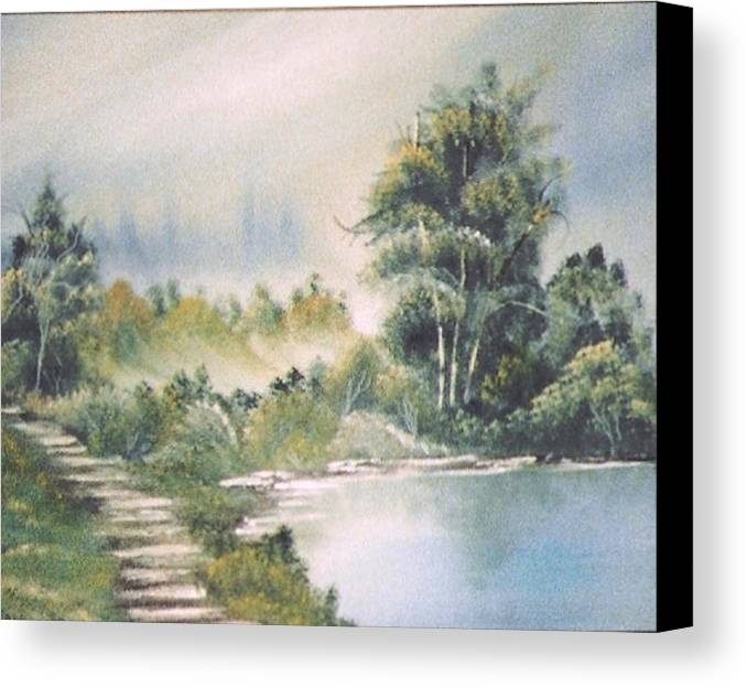 Biblical Canvas Print featuring the print Untitled by Beverly Baxter