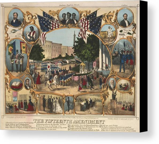 History Canvas Print featuring the photograph 1870 Print Illustrating The Rights by Everett