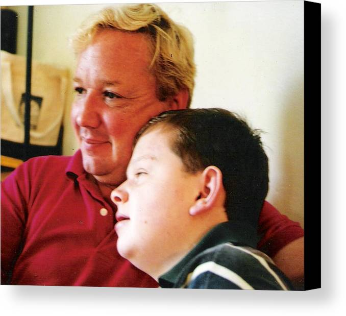 Canvas Print featuring the photograph Father And Son by Scarlett Royal