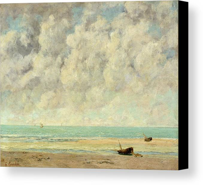 The Calm Sea Canvas Print featuring the painting The Calm Sea by Gustave Courbet