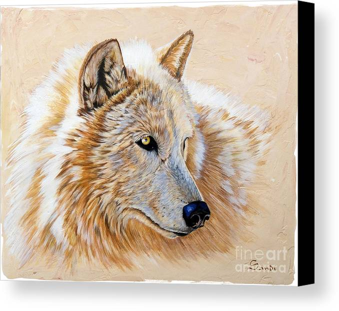 Acrylic Canvas Print featuring the painting Adobe White by Sandi Baker