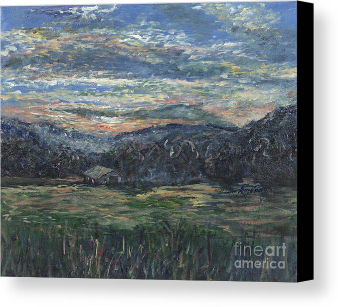 Impressionism Canvas Print featuring the painting Arkansas Sunrise by Nadine Rippelmeyer