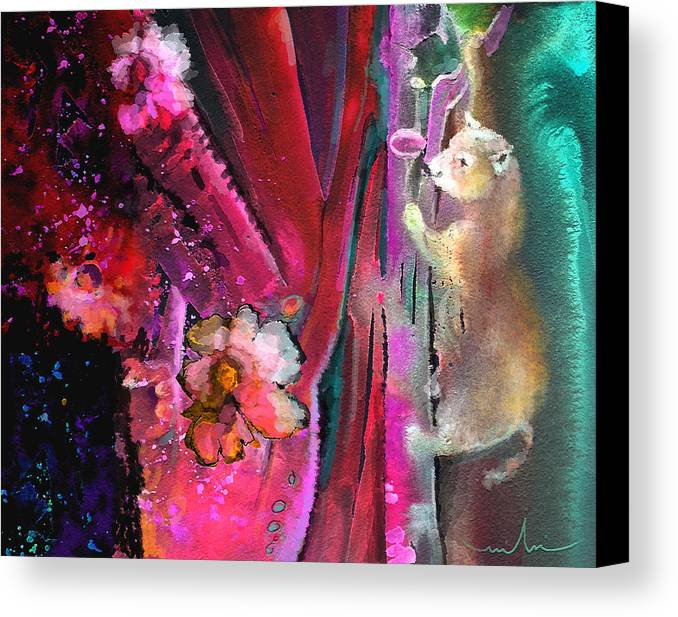 Dream Canvas Print featuring the painting Bare With Me by Miki De Goodaboom