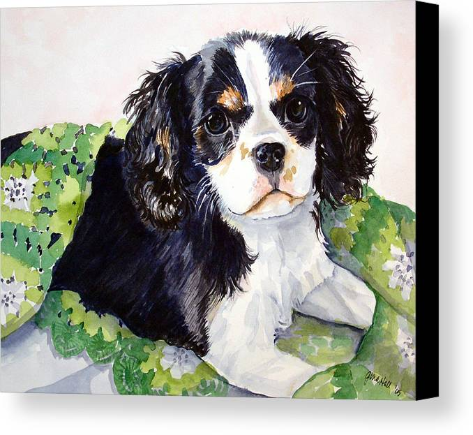 Canine Canvas Print featuring the painting Casey by Gina Hall