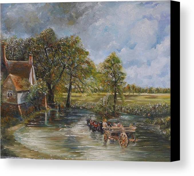 Landscape Canvas Print featuring the painting Coming Home by Wendy Chua