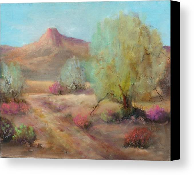 Desert Canvas Print featuring the painting Desert Trails by Sally Seago