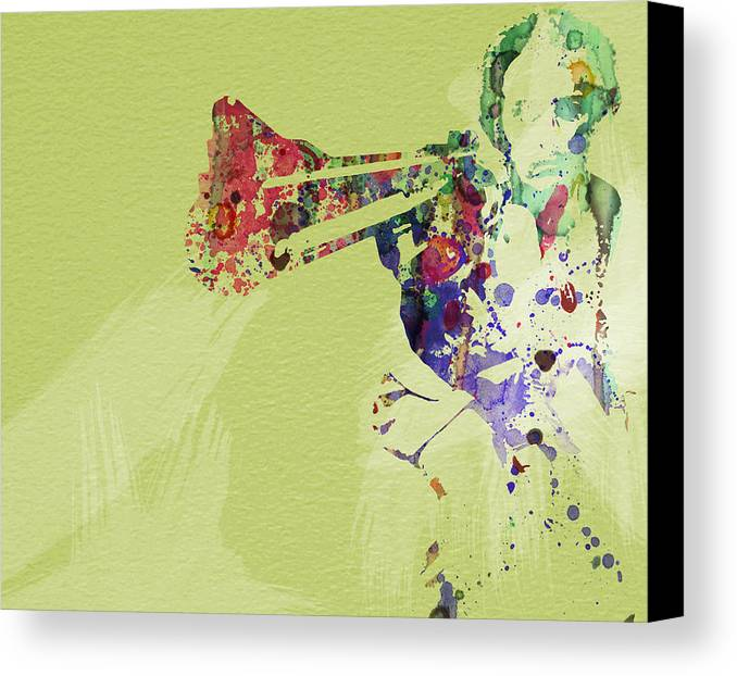 Canvas Print featuring the painting Dirty Harry by Naxart Studio