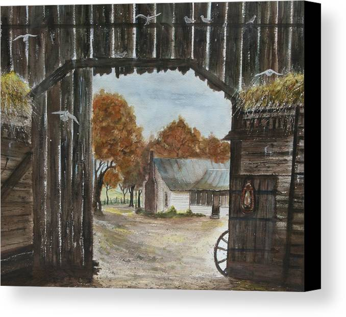 Grandpa And Grandma's Homeplace Canvas Print featuring the painting Down Home by Ben Kiger