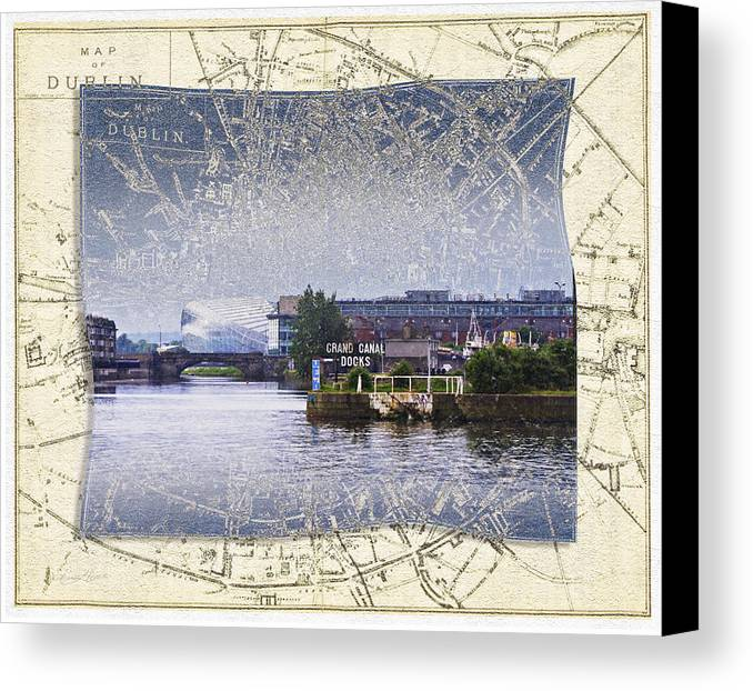 Ireland Canvas Print featuring the photograph Dublin Docks by Sharon Popek