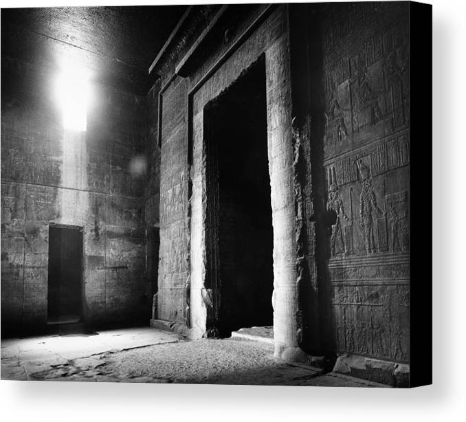African Canvas Print featuring the photograph Egypt: Dendera: Temple by Granger