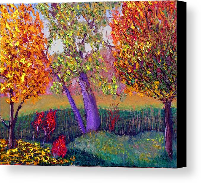 Fall Canvas Print featuring the painting Fall Colors by Stan Hamilton