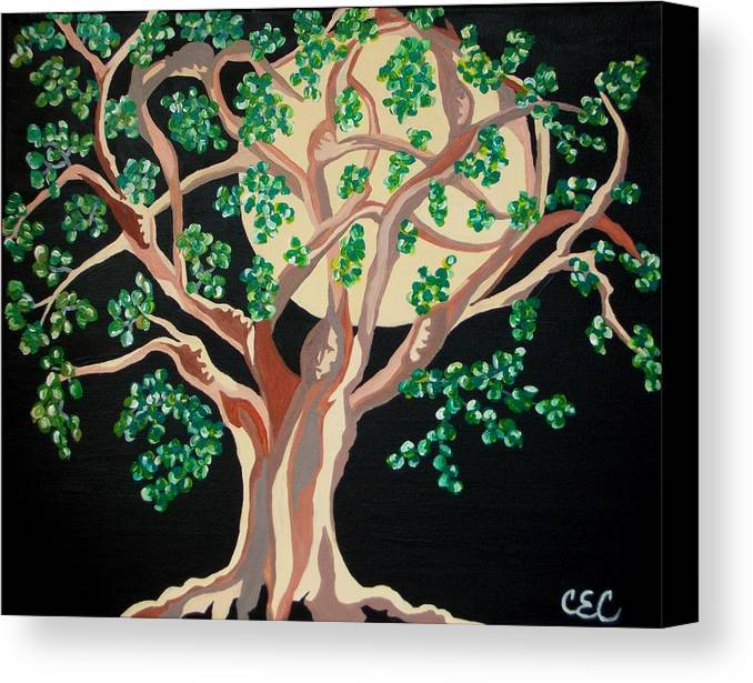Tree Canvas Print featuring the painting Family Tree by Carolyn Cable