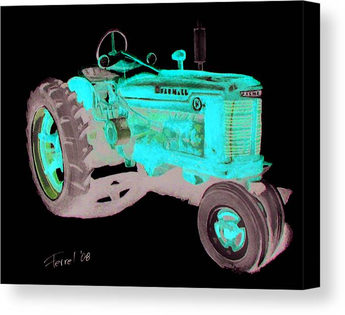 Farmall Canvas Print featuring the painting Farmall Tractor by Ferrel Cordle