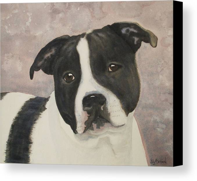Dog Canvas Print featuring the painting For Me by Ally Benbrook