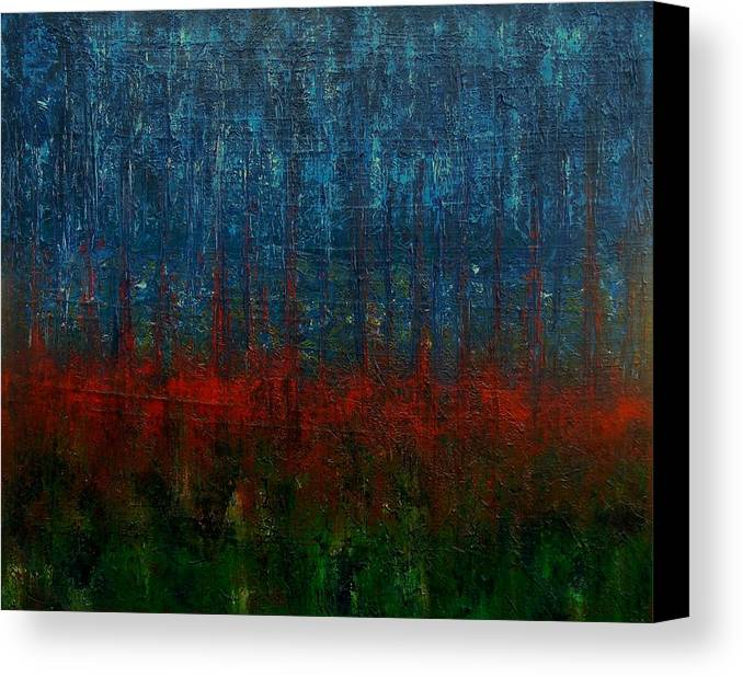Canvas Print featuring the painting Forest Obscura by Michael Anderson