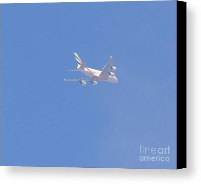 Four Engine Plane Prints Canvas Print featuring the photograph Four Engine Plane by Ruth Housley