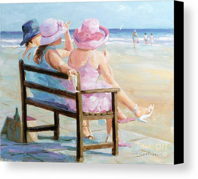 Impressionism Canvas Print featuring the painting Friends Together by Paul Milner