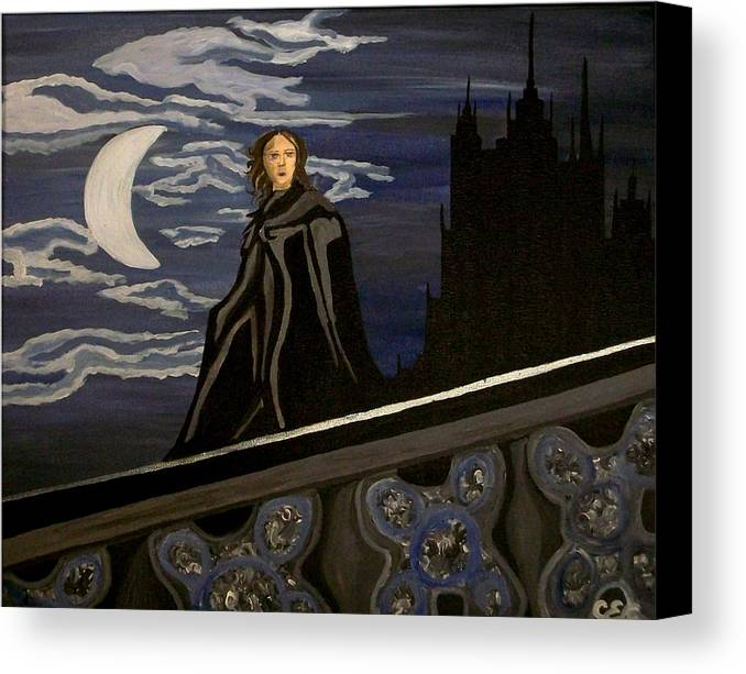 Night Canvas Print featuring the painting Guardian by Carolyn Cable