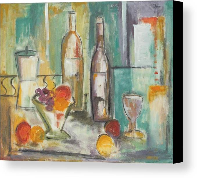 Abstract Canvas Print featuring the painting Happy Hour I by Trish Toro