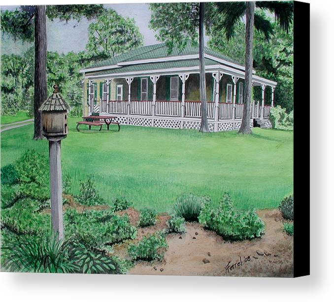 House Canvas Print featuring the painting House Of David by Ferrel Cordle