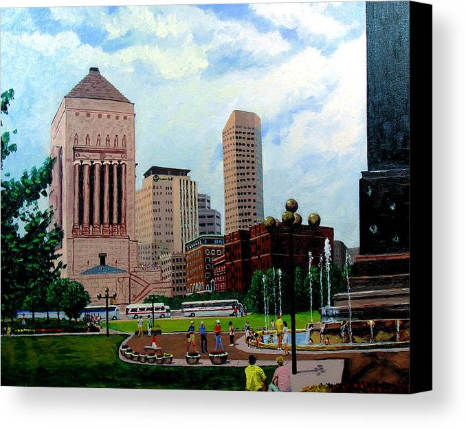 Indianapolis Canvas Print featuring the painting Indy Festival by Stan Hamilton