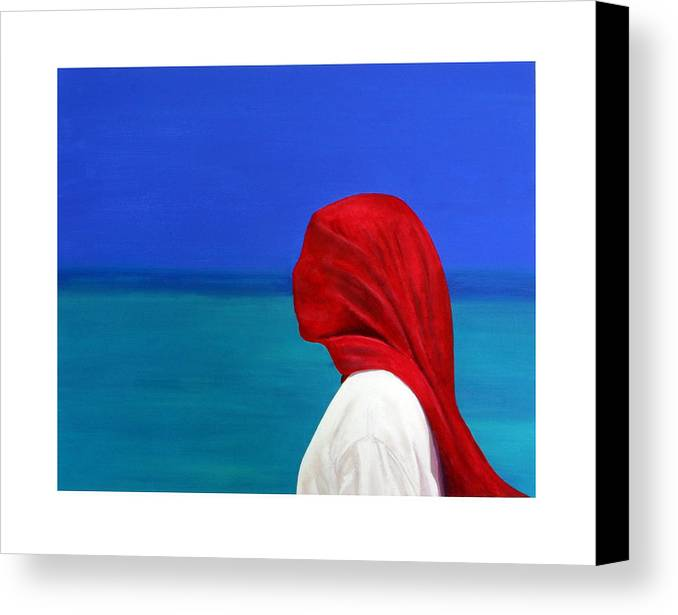 Red Canvas Print featuring the painting It Could Be You by Fiona Jack