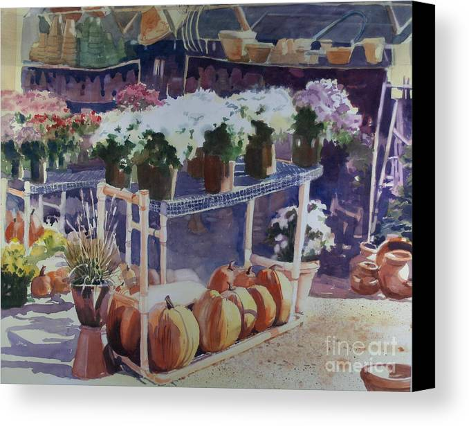 Gardenscape Canvas Print featuring the painting Ivy Corners by Elizabeth Carr