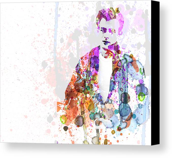 James Dean Canvas Print featuring the painting James Dean by Naxart Studio