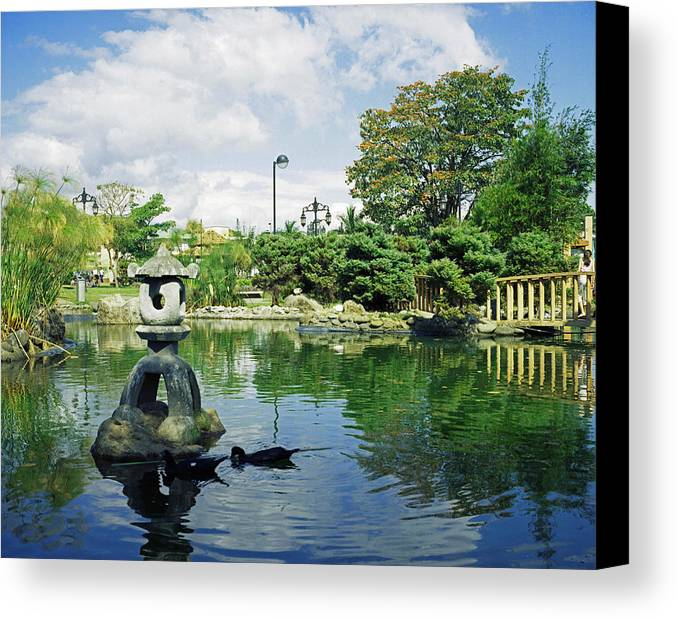 Landscape Canvas Print featuring the photograph Japanese Park by Johnny Aguirre
