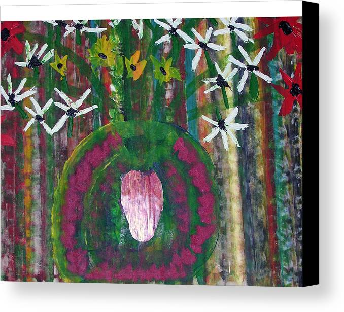 Figerative Canvas Print featuring the painting Kings Flowers by Russell Simmons