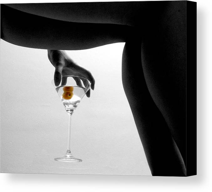 Legs Martini Cocktail Canvas Print featuring the photograph Martini by Jon Daly