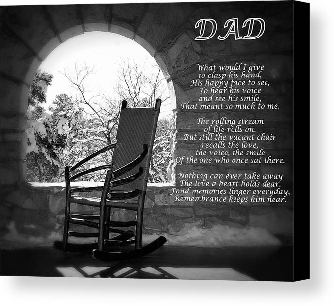 missing dad poem canvas print canvas art by james defazio